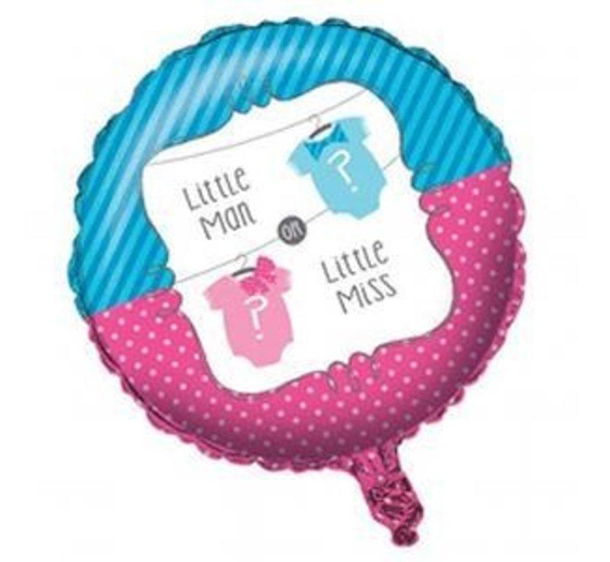 Gender reveal ballon little mam / miss