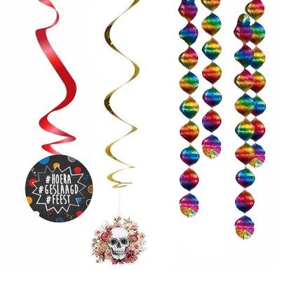 thema feesten hangdecoraties spiralen