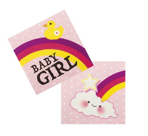 Papieren servetten baby girl