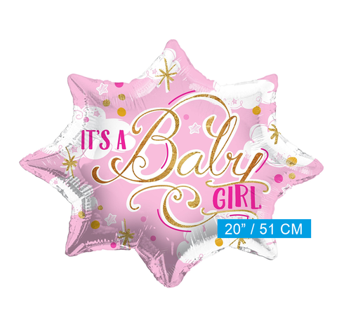 Folie Ballon IT'S A GIRL roze
