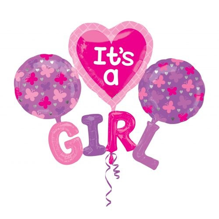 Folie BALLON set  IT'S A GIRL