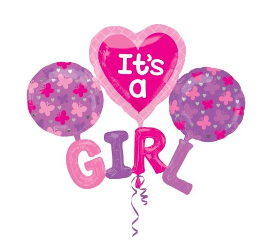 Folie ballon set it's a girl
