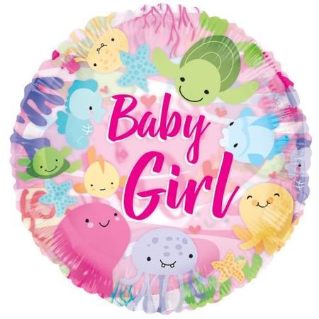 Baby ballon girl zeezicht