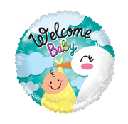 Welkom baby ballon