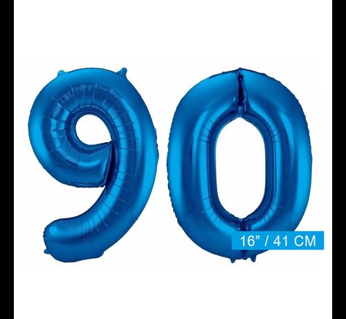Folie ballonnen 90 blauw