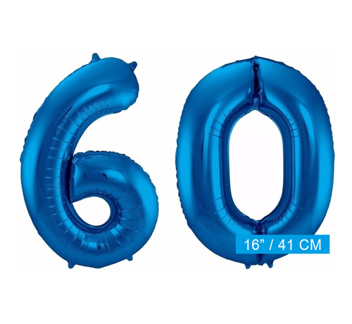 Folie ballonnen 60 blauw