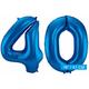 Folie ballonnen 40 blauw