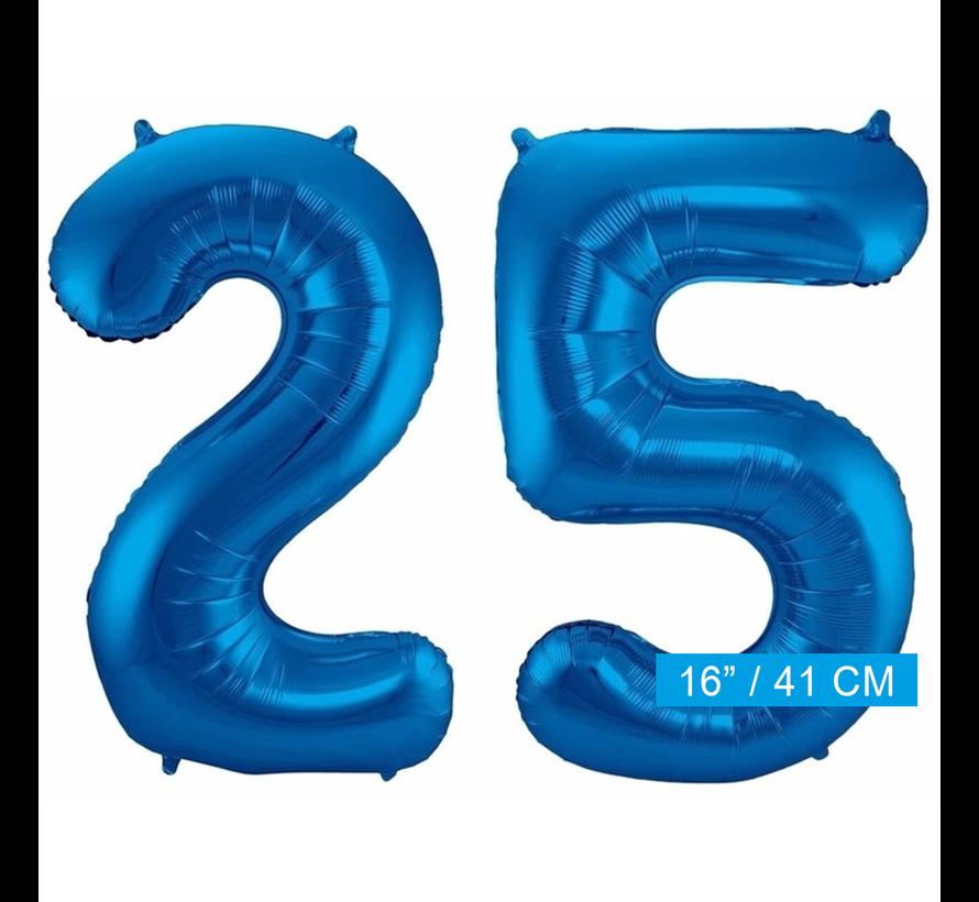 Folie ballonnen 25 blauw