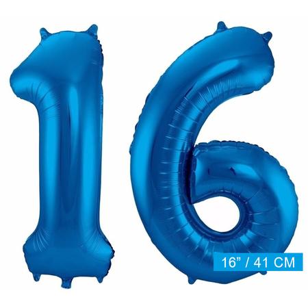 Folie ballonnen 16 blauw