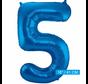 Folieballon 5 blauw
