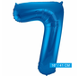 Folieballon 7 blauw