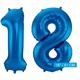 Folieballon 18 blauw