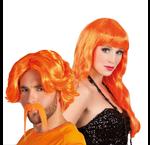 Oranje pruiken