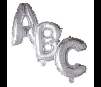 Ballonnen letters zilver kleurig