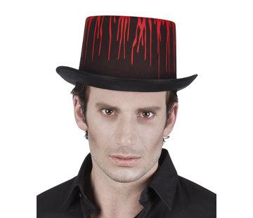 Hoge hoed met bloedspatten
