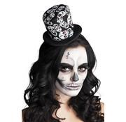 Tiara Hoge hoed met doodskoppen
