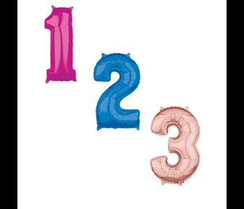 Helium ballonnen cijfers 40 inch