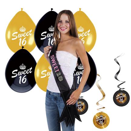 Sweet 16 versiering voor dames