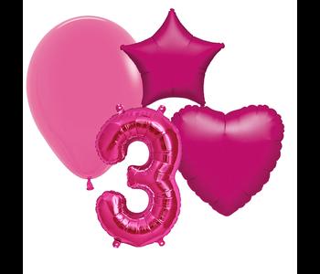 Fuchsia ballonnen cijfers