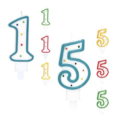 cijfers kaarsjes taart