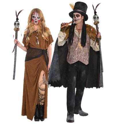 Zwarte magie voodoo kostuums