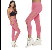 Neon roze gaten legging
