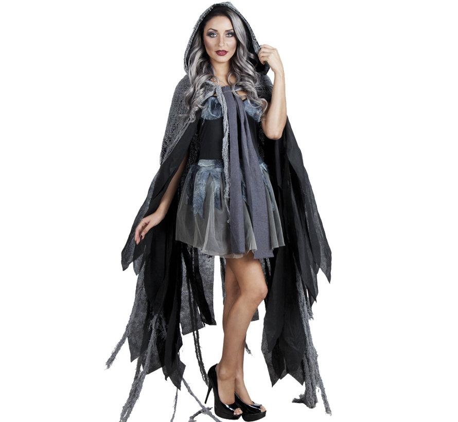 zombie kostuum dames cape