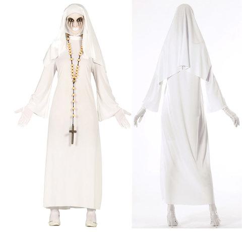 Nonnen jurk  wit habijt