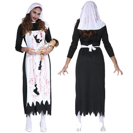 Zombie verpleegster kostuum