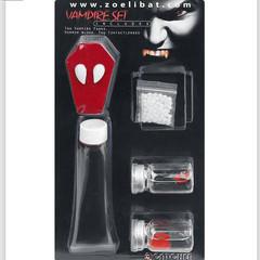 Rode lenzen en Latex make-up Set