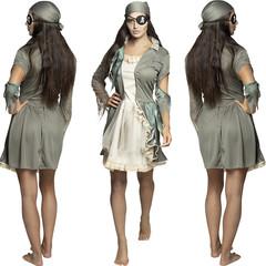 Zombie piraten kostuum dames