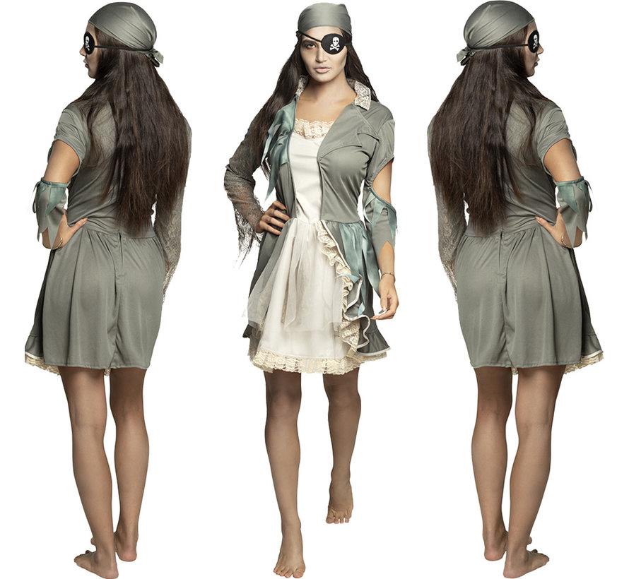 Zombie piraten kostuum dames geest
