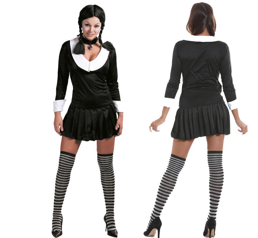 Zwart schoolmeisje kostuum kopen