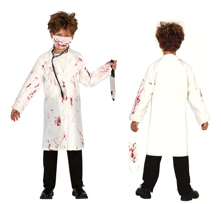 Halloween horror tandarts jas kind