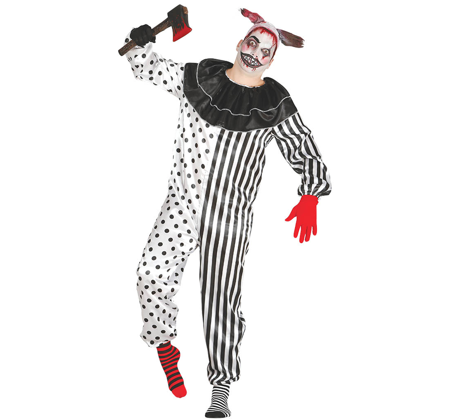 Horror Pierrot clown kostuum