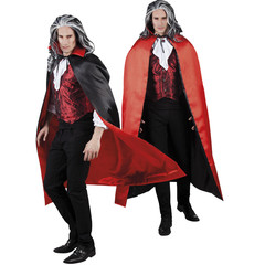 Rood-zwarte cape