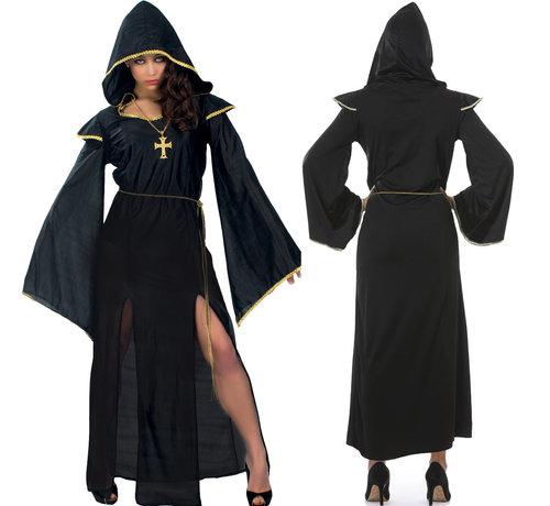 Dames Gothic kostuum met capuchon