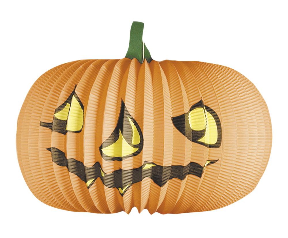 Halloween Pompoen Kopen.Papieren Halloween Lampion Oranje Pompoen