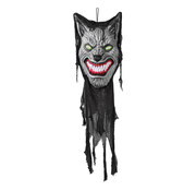 Weerwolf Halloween decoratie met licht en geluid