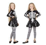 Halloween kleding skeleton girl