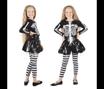 Halloween kleding skeleton girl