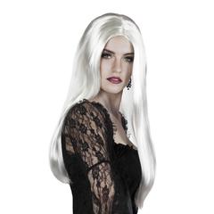 Heksen pruik wit