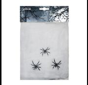 Spinrag wit met 3 spinnen
