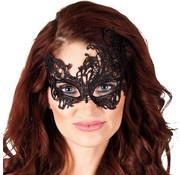 Zwart kanten masker