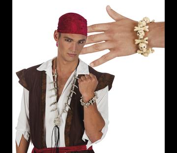 Piraten armband doodskop