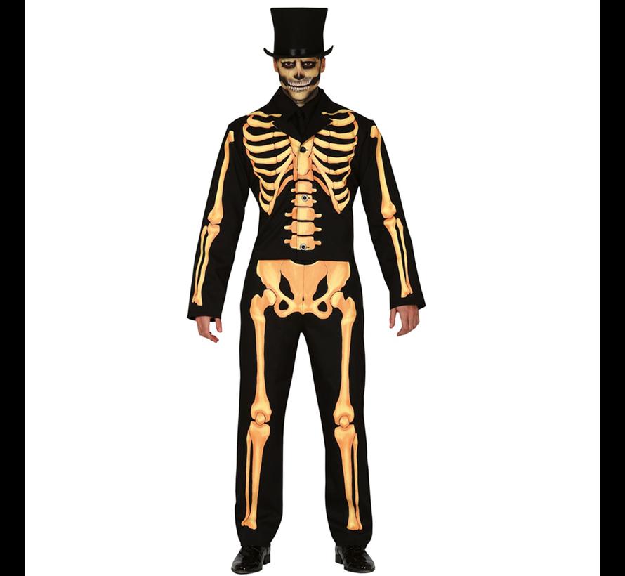 Catsuit skelet dames, heren en kinderen