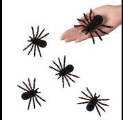 kleine plastic spinnen zwart