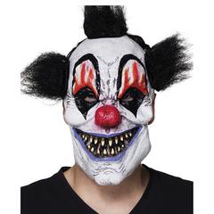 latex scary clown masker