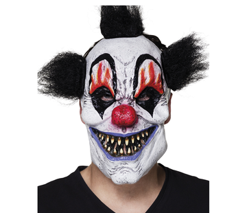 latex scary clown masker