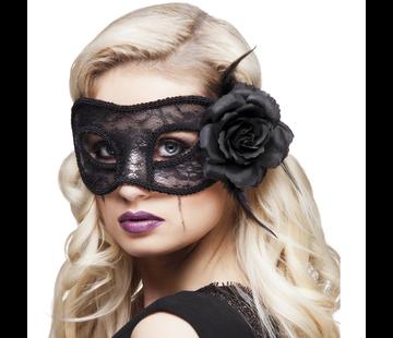 Oogmasker zwart kant Mystique